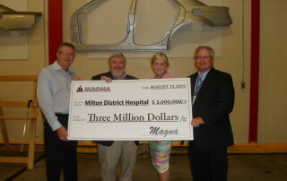 magna donation to the hospital